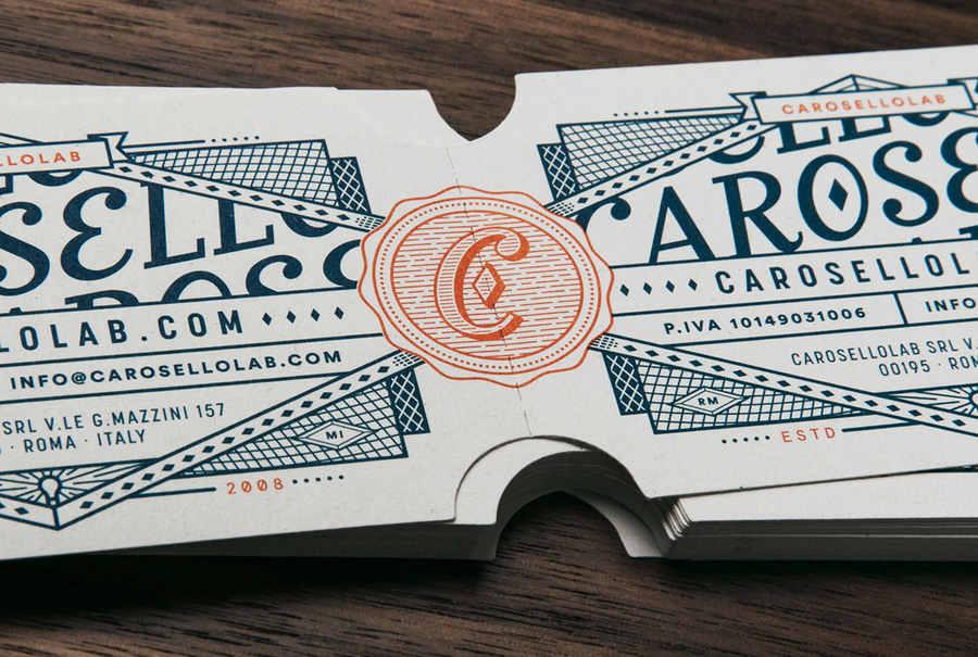tarjetas de presentación inspiradas en boletos de cine