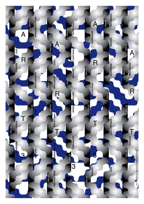 carteles para una organización de arte