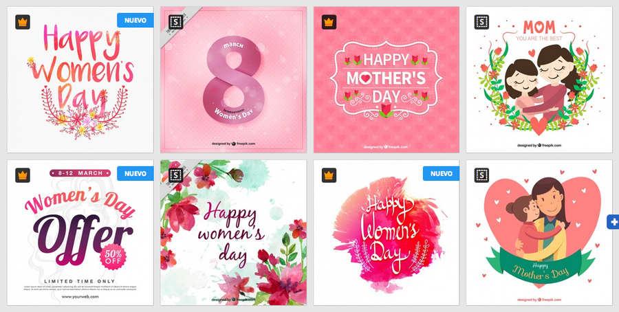 diseños del día internacional de la mujer