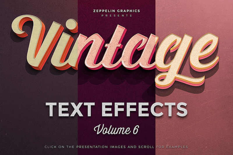 efectos retro y vintage en textos