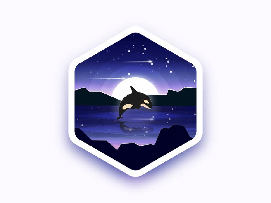 insignias con paisajes espaciales