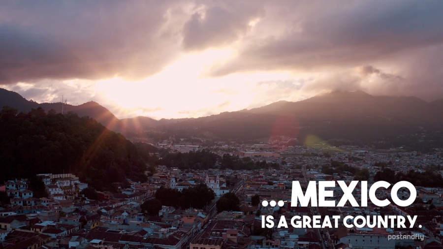 viajando por México en un dron