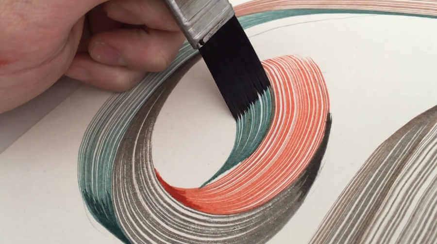 caligrafía hecha con brochas