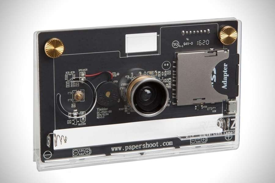 cámara transparente para hipsters