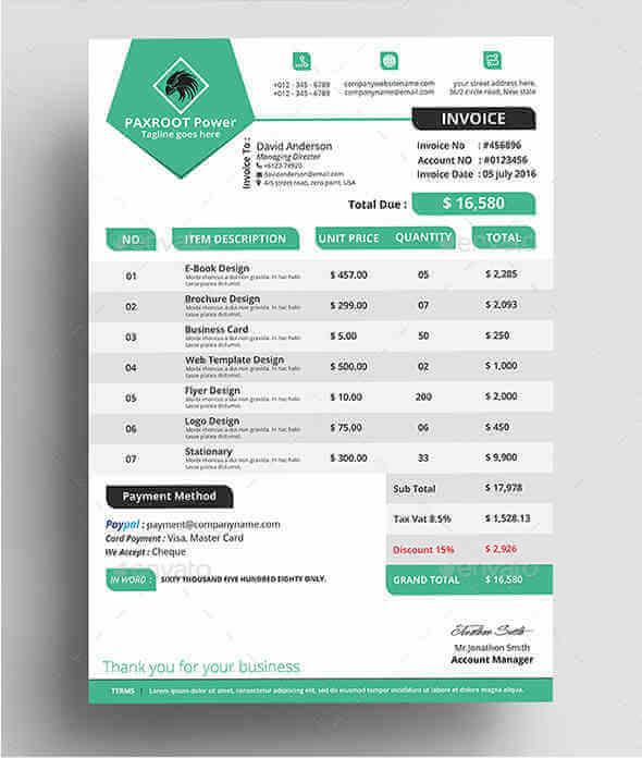 10 formatos y modelo de facturas para imprimir desde casa for Diseno de facturas