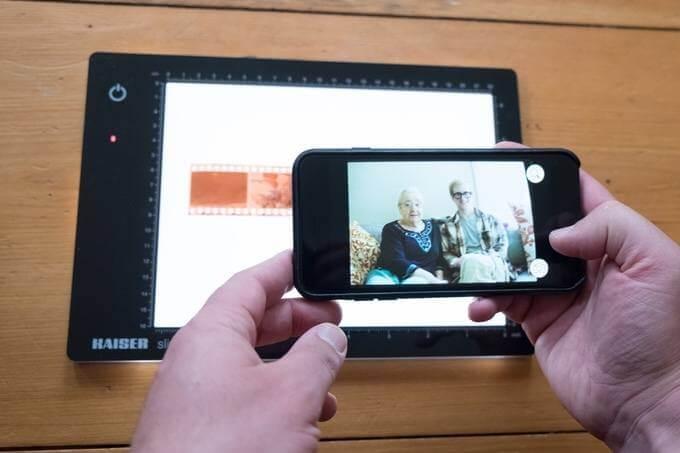 aplicación para revelar negativos de fotografías