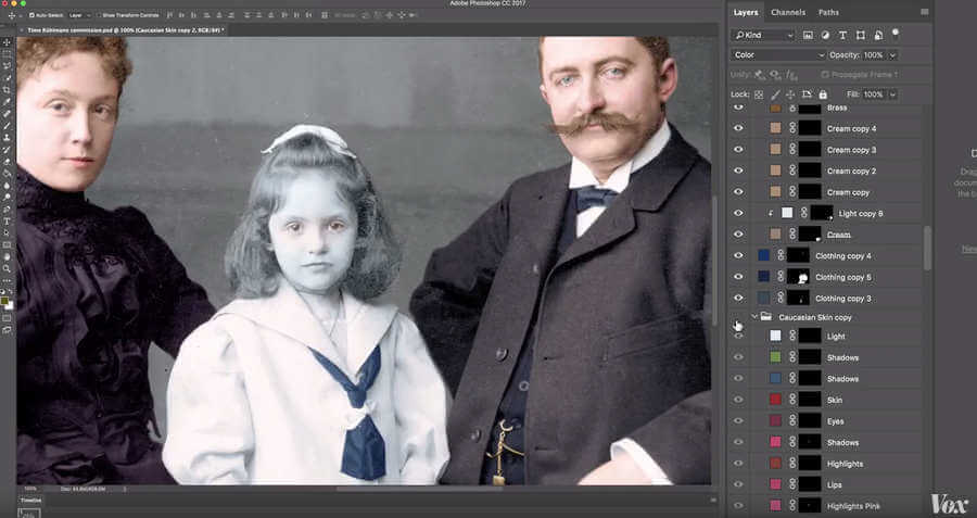 colorear fotografías en blanco negro