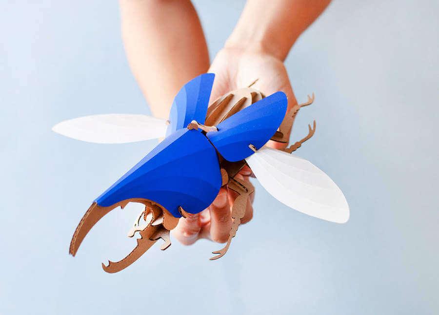 insectos de papel