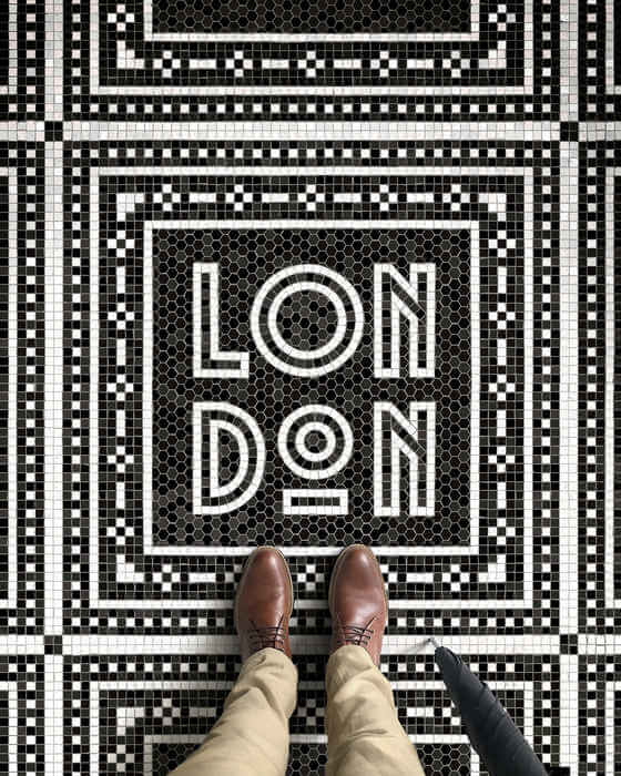 mosaicos digitales con tipografías