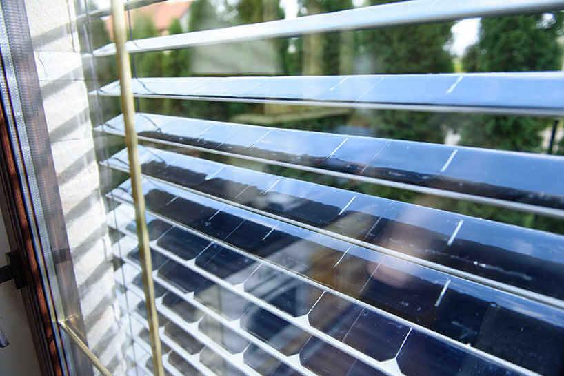 persianas con celdas solares
