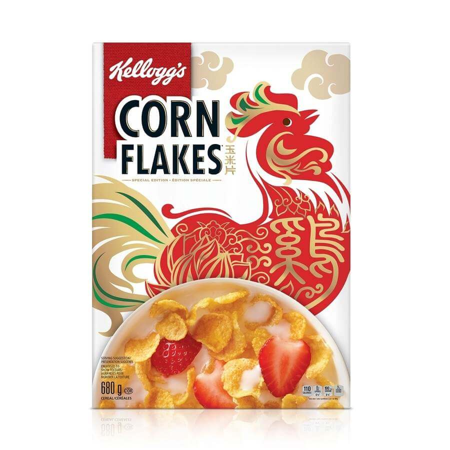 Kelloggs Corn Flakes para año nuevo chino