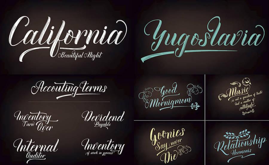 fuentes caligráficas modernas