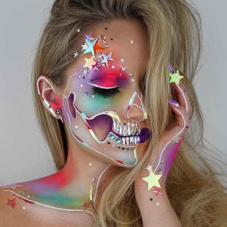 pintura de calaveras en rostros