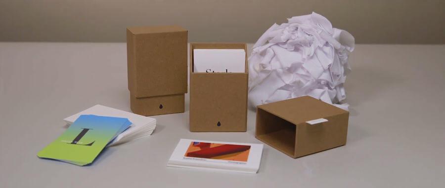 tarjetas de presentación de algodón