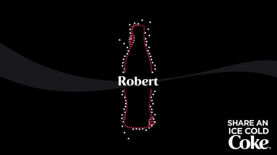 Canción de Coca-cola con el nombre de Robert