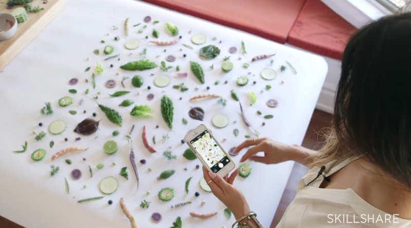 cursos de fotografía de alimentos y productos