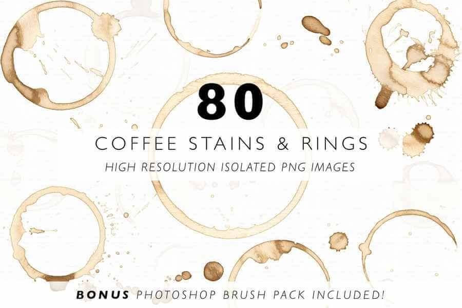 recursos gráficos gratis manchas de café