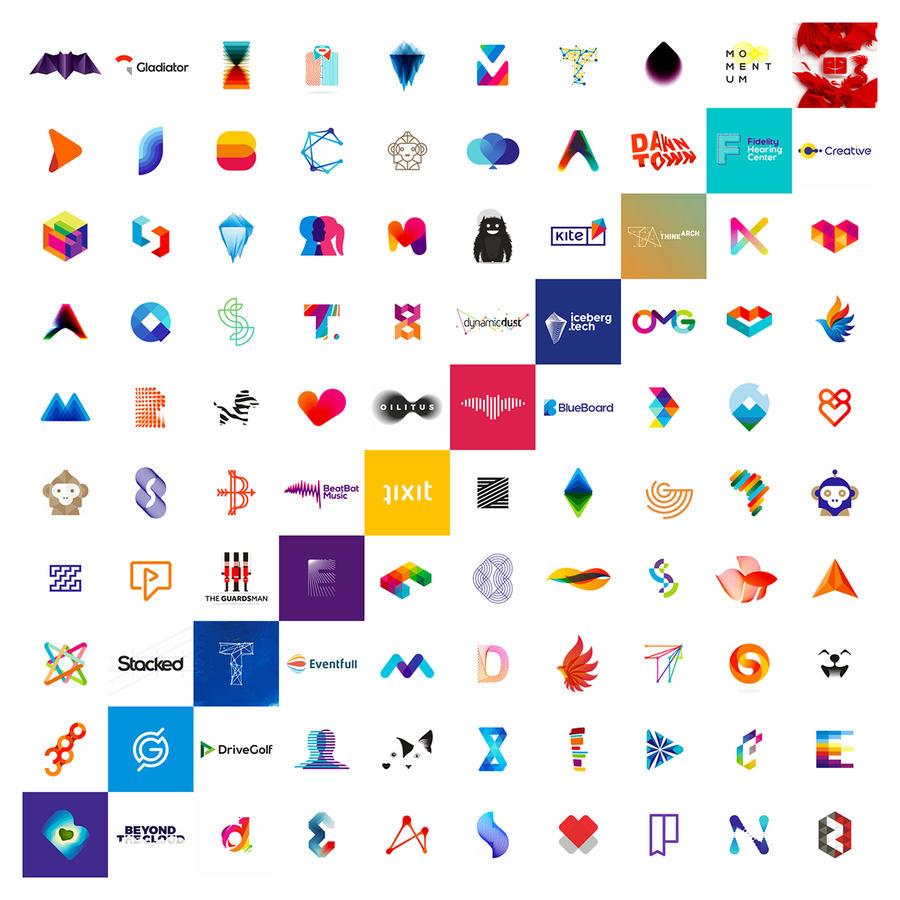 100 logos hechos en 10 años