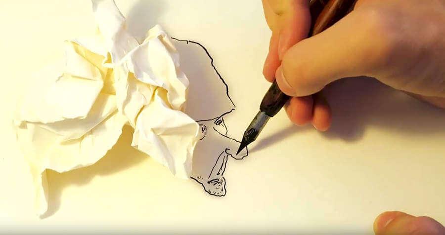 dibujos hechos con sombras