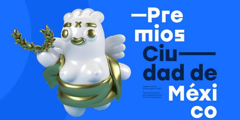 estatuilla de los premios CDMX 2017