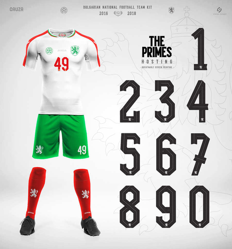 identidad gráfica de la selección de fútbol de Bulgaria