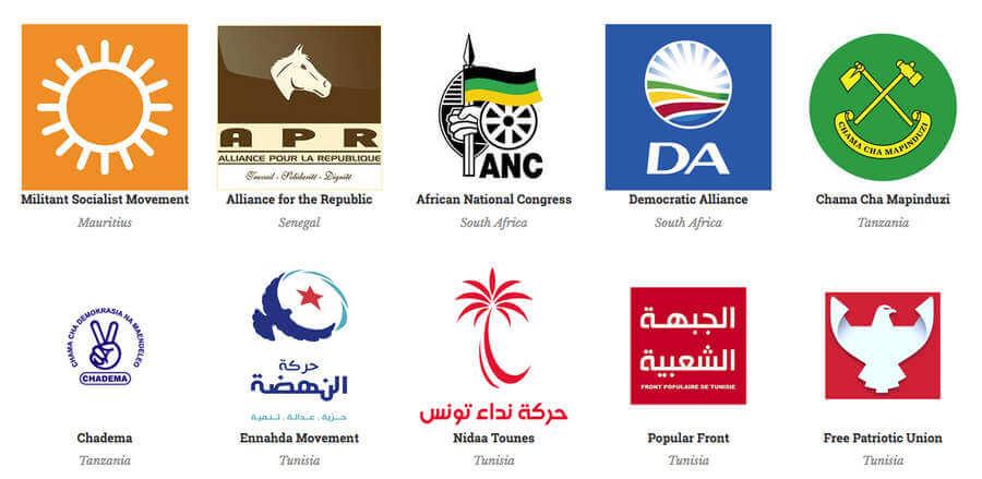 logotipos de partidos políticos