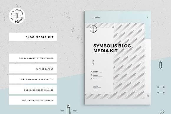 plantillas de media kit