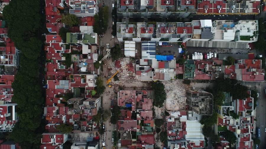 Fotografías aéreas de la Ciudad de México tras el terremoto