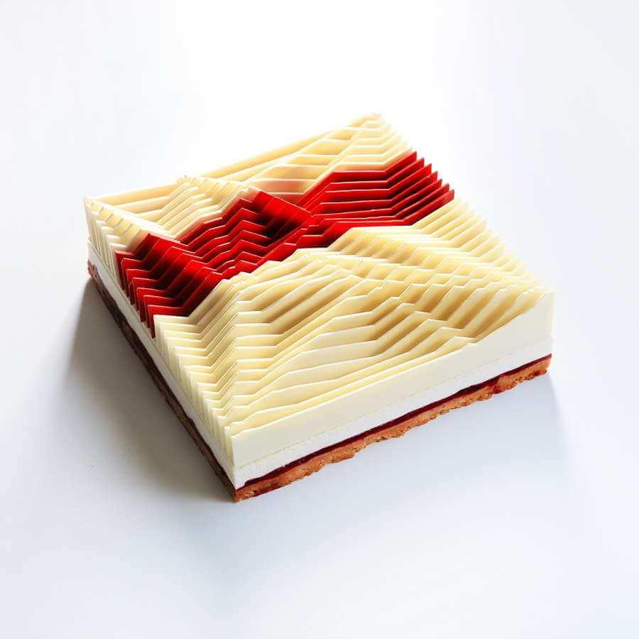pasteles hechos con figuras geométricas