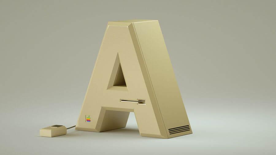 letras hechas de aparatos electrónicos