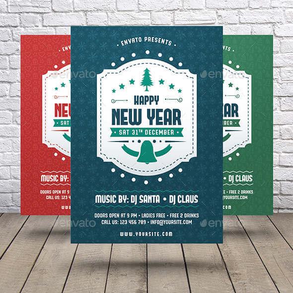 plantillas y flyers de invitaciones a fiestas de fin de año