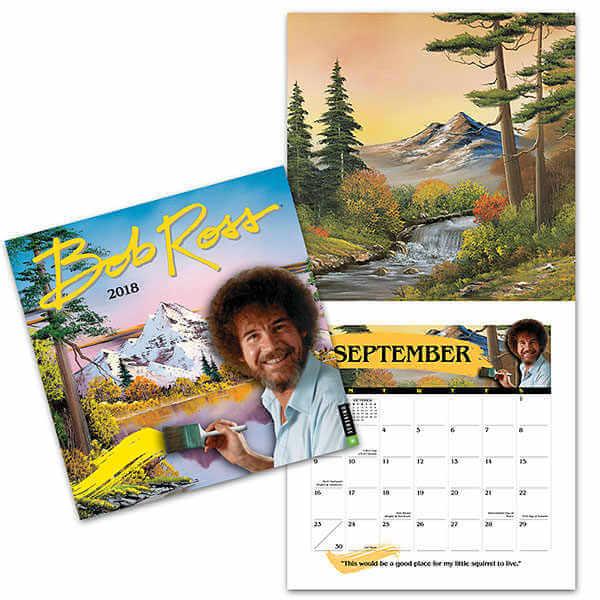 calendario 2018 de Bob Ross