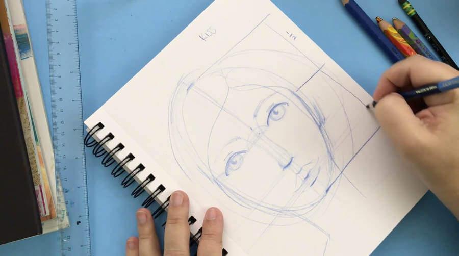 cómo dibujar rostros reales