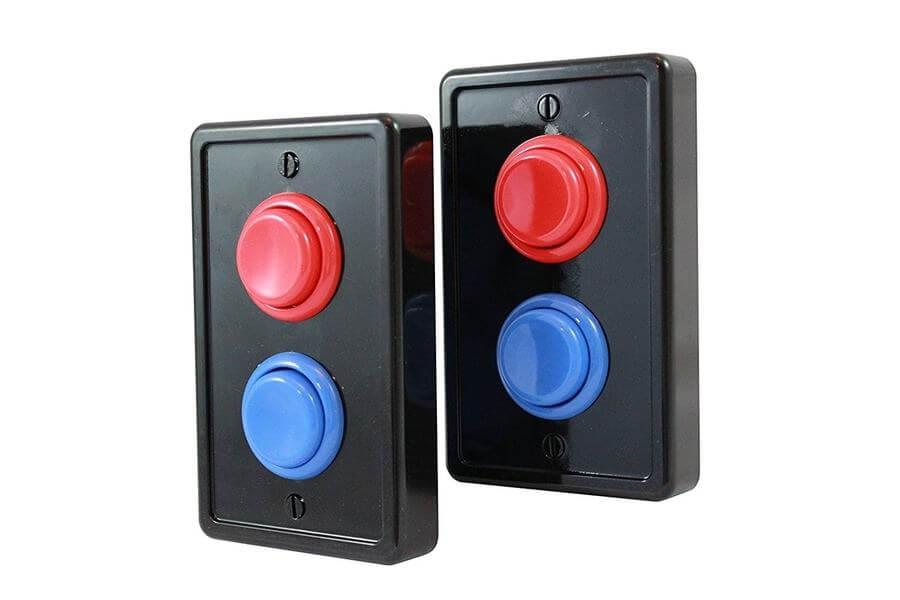 interruptores con botones de arcade
