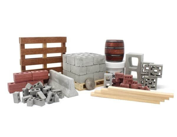 materiales para construcción a escala