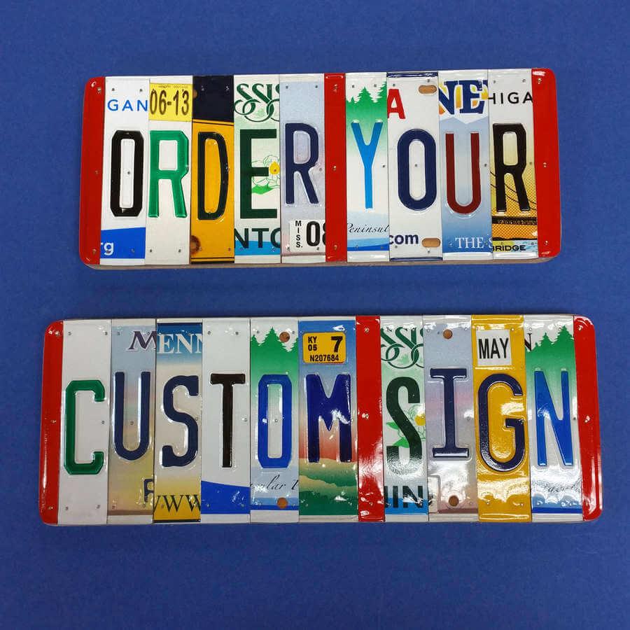 placas de autos personalizadas