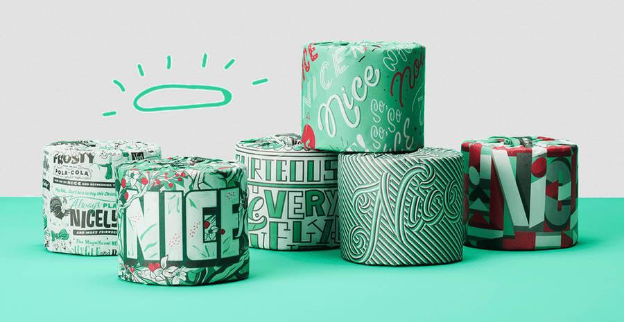 rollos papel higiénico con ilustraciones