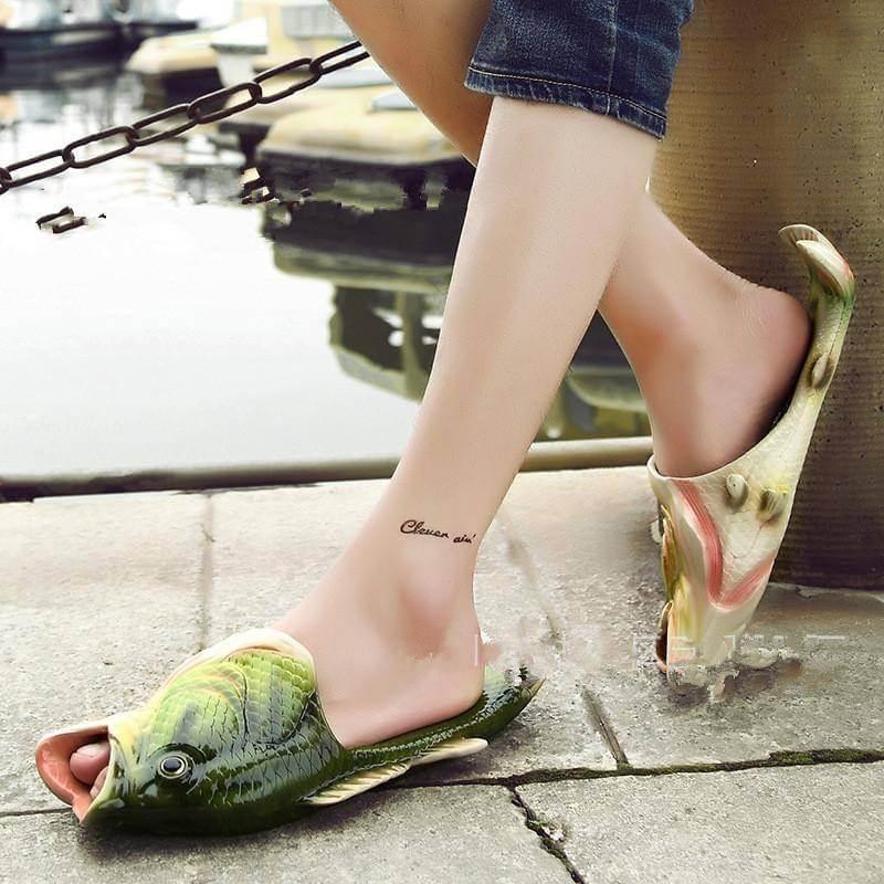 sandalias de pescado