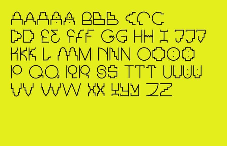 tipografía Maya