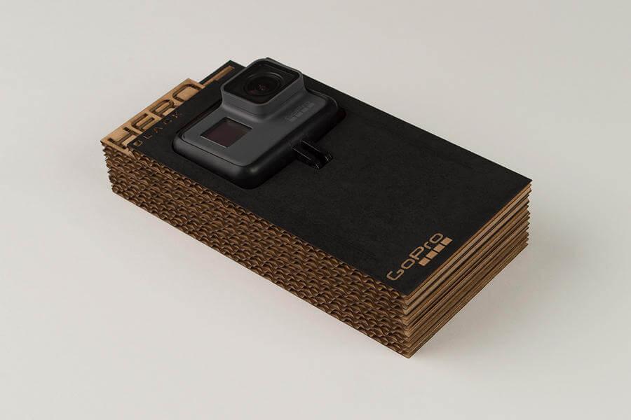 Empaque sostenible para una cámara GoPro