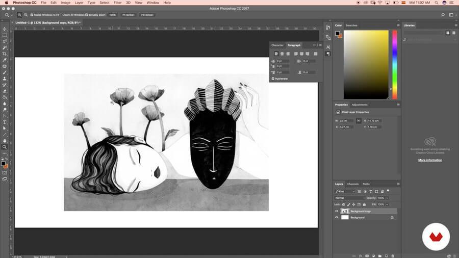 Aprende a dibujar con tinta china