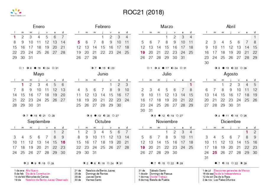 crea un calendario personalizado