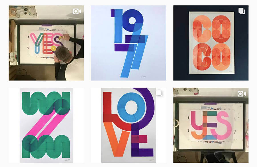 Tipografías en posters