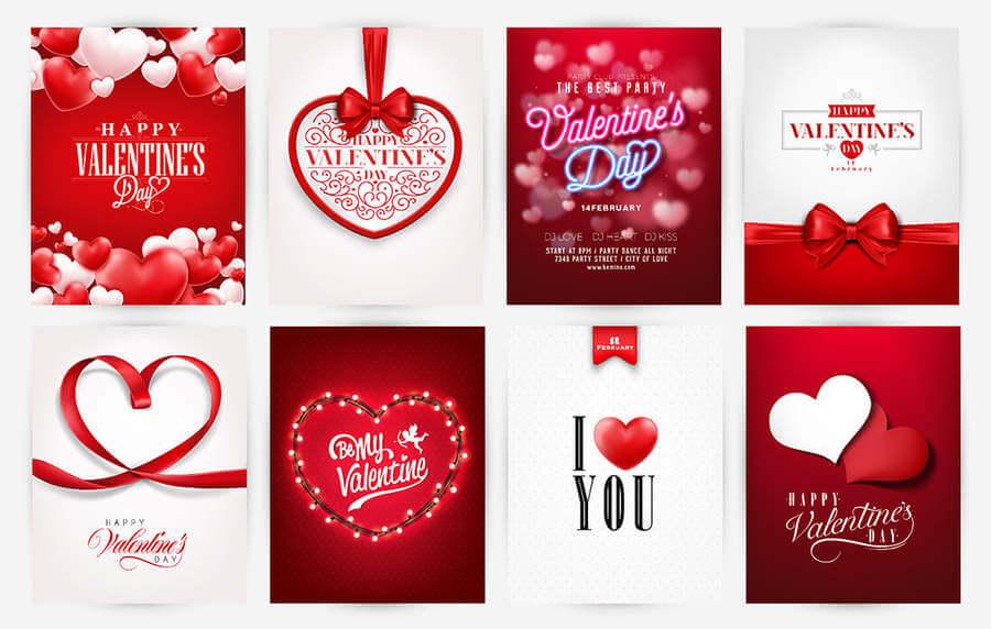 Vectores de San Valentín