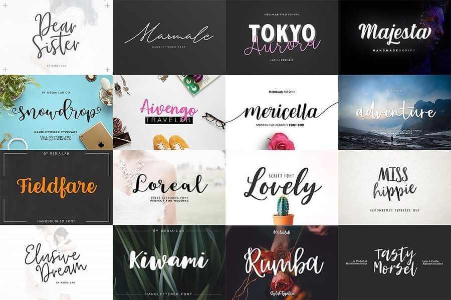 151 tipografías script en oferta