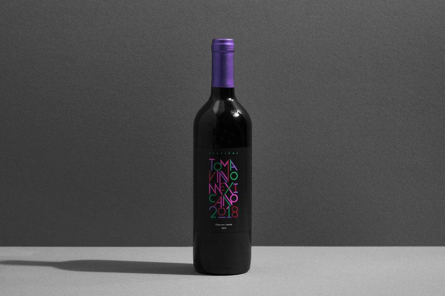 Identidad gráfica del festival Toma Vino Mexicano