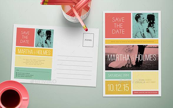 Invitaciones de bodas modernas
