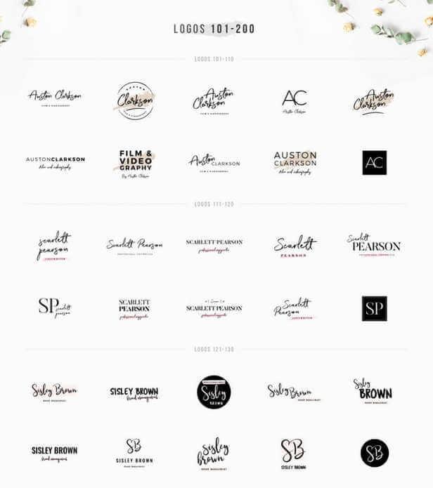 Plantillas de logos editables