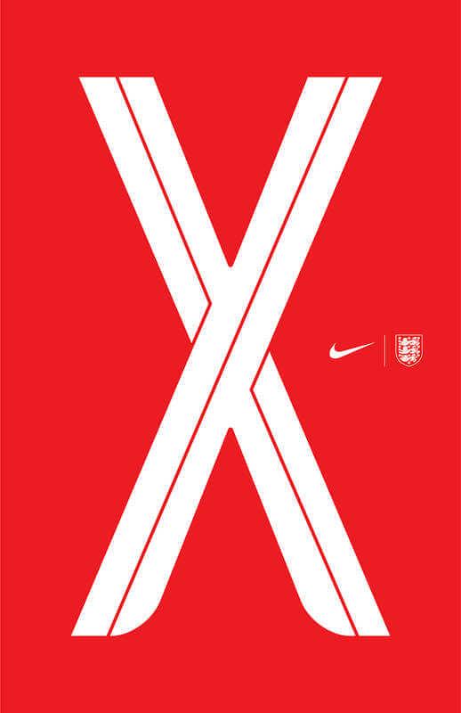La tipografía oficial de la selección de fútbol inglesa