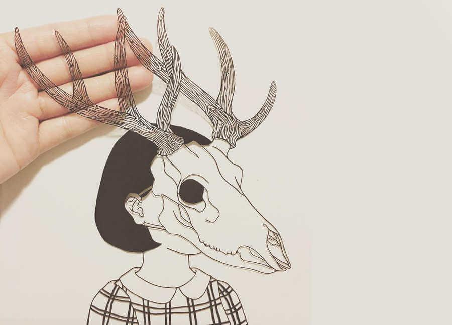 Arte hecho con papel recortado